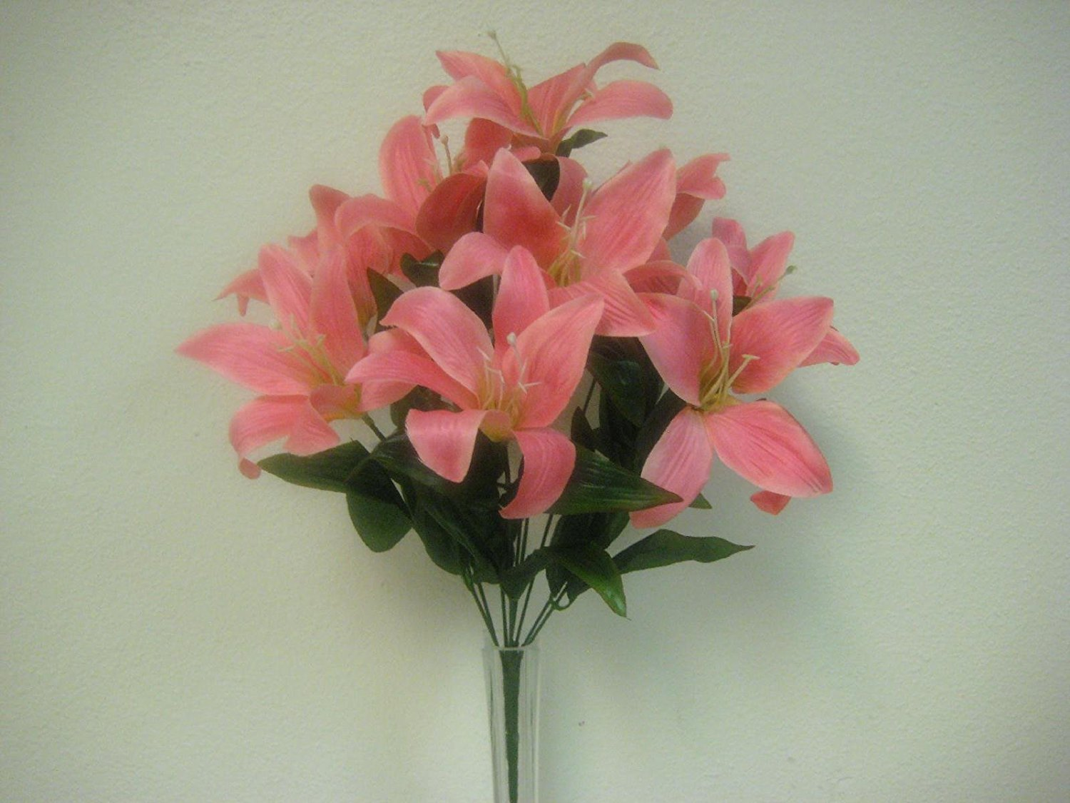 Cheap artificial tiger lily find artificial tiger lily deals on get quotations 2 bushes pink tiger lily artificial silk flowers 1 x 10 bouquet 4069pk izmirmasajfo