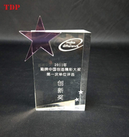 2018 Wholesale New Design Acrylic Award Clear Trophy for Display