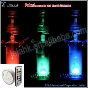 Cute Nargile Led Glass Hookah Shisha Light For Theme Wedding