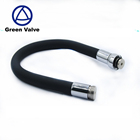 Green Valve High Quality Hot sale Black Universal Flexible Silicone Kitchen Hose with ABS Head
