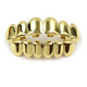 18K Gold Plating Copper Wholesale New Design Tooth Socket Jewelry