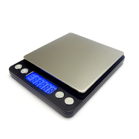 500g/ 0.01g Digital Jewelry Scale, High-precision Pocket Food Stainless Steel Jewelry Scales, Multifunctional