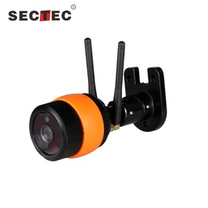 Orange colorful outdoor wifi camera 720P hd wifi cctv camera with double antenna