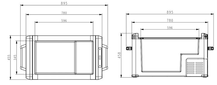 Colku 60l большой автомобильный холодильник большой размер
