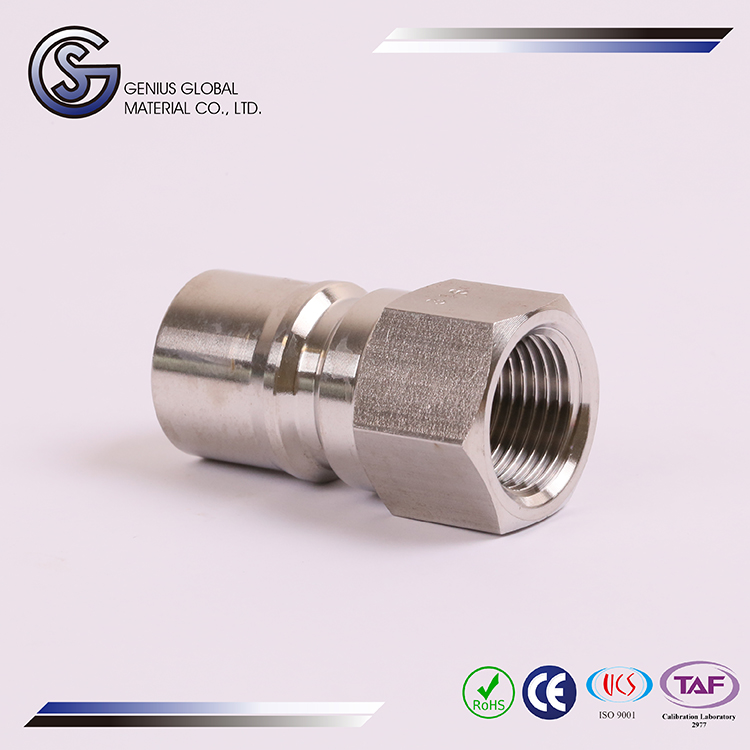 GS-K02 Hydraulic Quick Couplings Plug 316 stainless steel seamless tube end caps