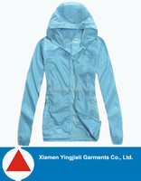 2014 New Design Women Rain Jacket with Hood