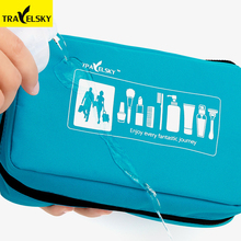 Travelsky カスタム多機能無地化粧品トイレタリー<span class=keywords><strong>トラベルバッグ</strong></span>