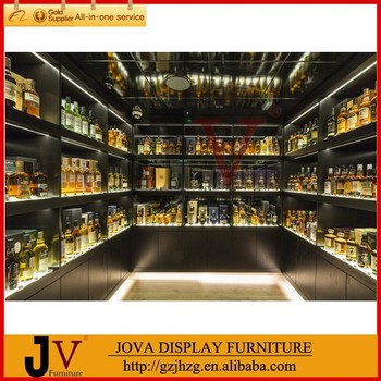 Modern Customized Liquor Display Cabinet Wine