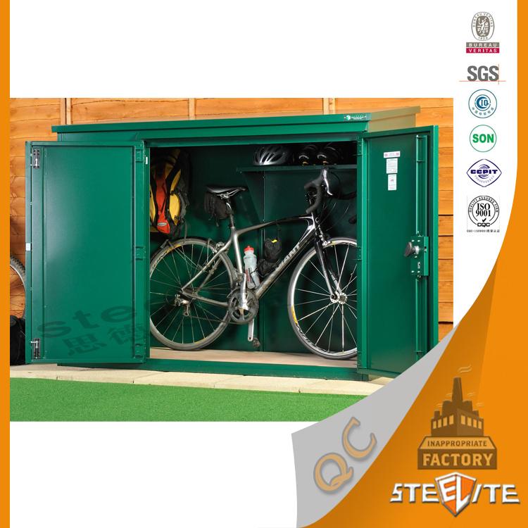outdoor waterproof metal bike lockers/bike storage shed/outdoor