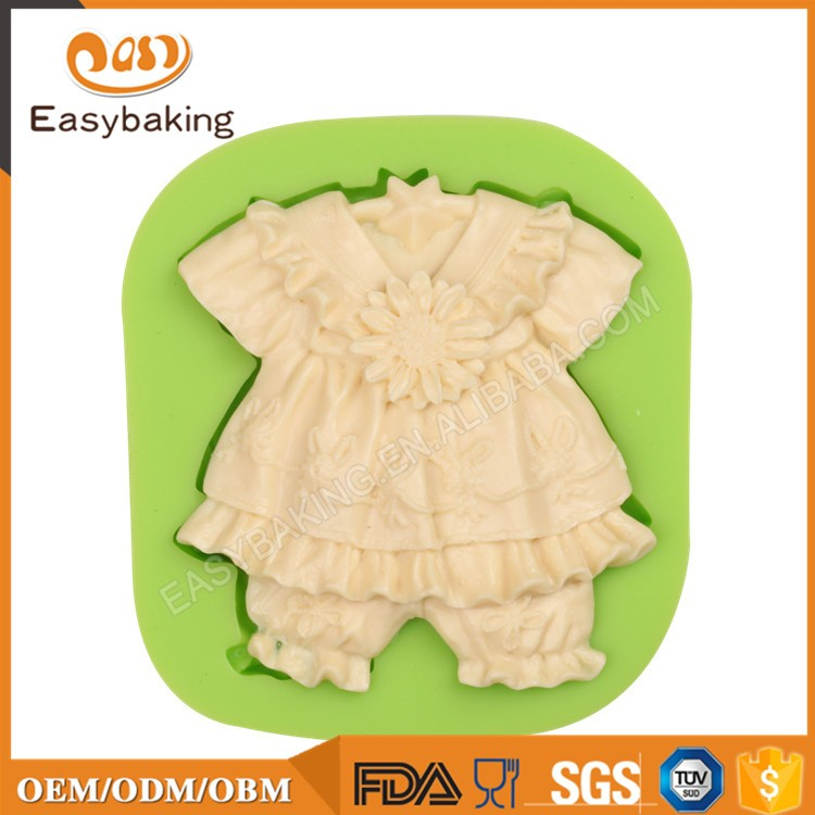 ES-1109 Baby Dress with Sunflowers Silicone Molds