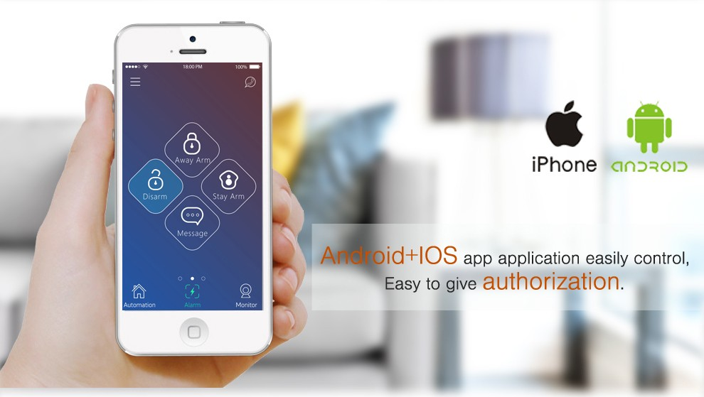 home automation alarm. 2016 hottest home automation alarm system with app wifi gsm gprs wireless security