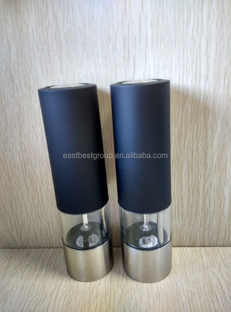 Stainless steel electric salt & pepper mill Model No. EB880A-2