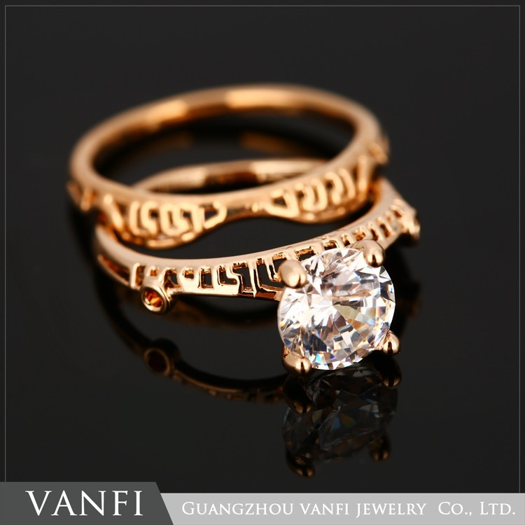 Latest Beautiful 18k Solid Gold Plated Finger Ring Wholesale Fancy ...