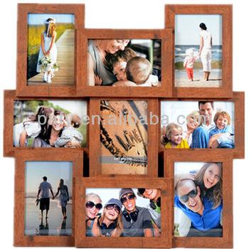 Madera Collage Foto/marcos Con 9 Apertura - Buy Divertidos Marcos De ...