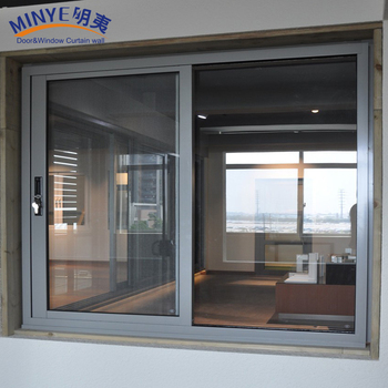 Color de madera est ndar europeo ventana corredera con for Ventanas de aluminio estandar ver precios