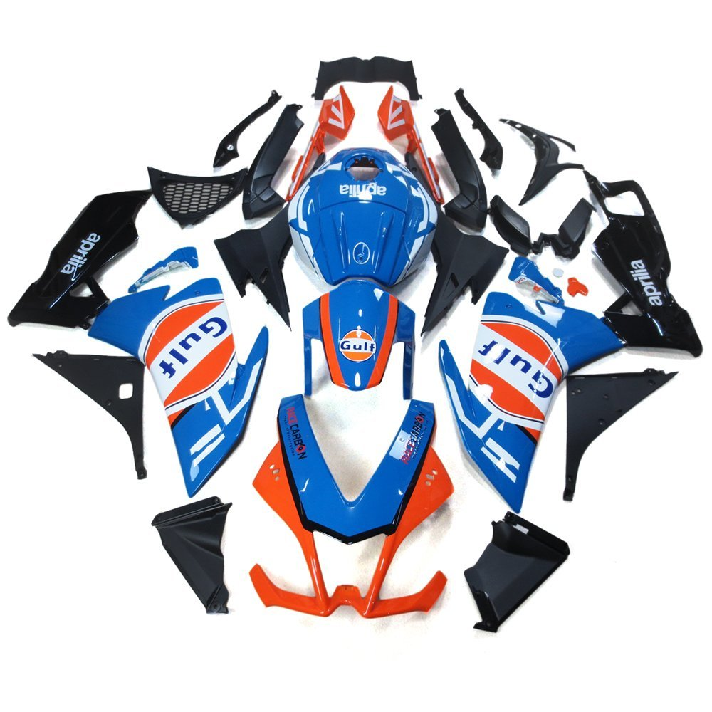 Sportfairings Complete Fairings Injection ABS Body Kits For Aprilia RS4 125 2012 Motorcycle Body Kits Covers GULF Blue Black