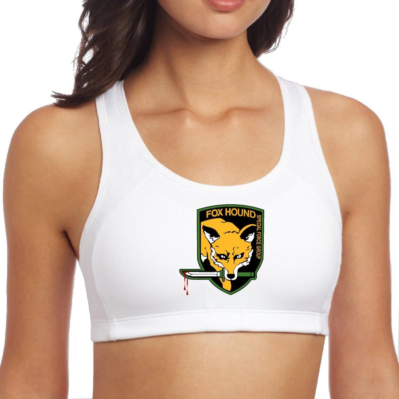 Womens Metal Gear FoxHound Logo Blood Dripping Racerback Yoga Sports Bra