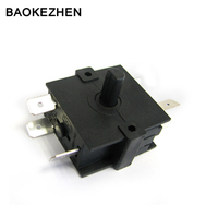 2-6 way rotary switch for fan heater,oven,toaster, factory China
