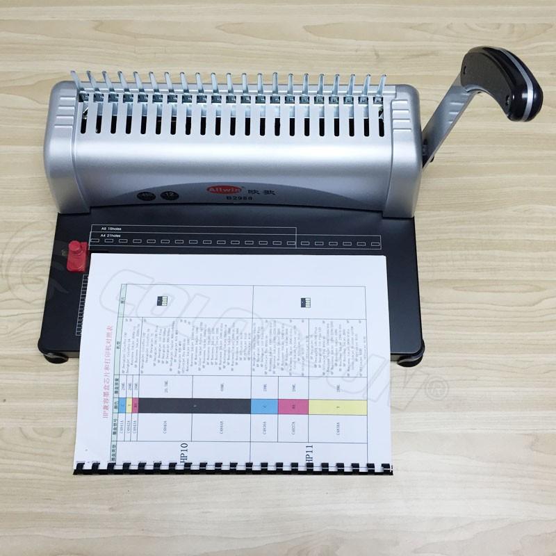plastic book binding machine