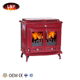 Traditionally Designed Contemporary Features Wood Stove Turkey Romantic Red