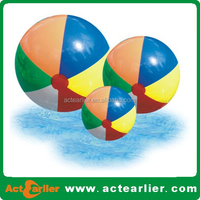 Pvc inflatable beach ball with custom design 12-36inch 30-90cm