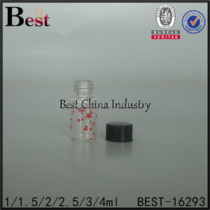 mini screw neck glass bottle 1ml 2ml 3ml clear glass vial with screw cap