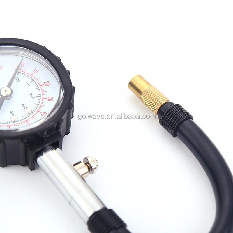 tire pressure gauge. air tire pressure gauge with hose,heavy duty dial gauge,vehicle tester