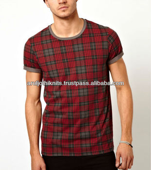 Mens Checked T Shirts - Buy Designer Check Shirts For Men,Tirupur ...
