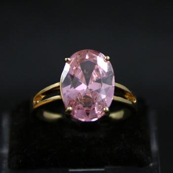 Big Single Stone 3 Gram Gold Ring Designs Pink Diamond Wedding