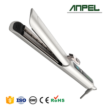 New Private Label Hair Tools Steam flat iron with LCD Temperature Adjustable