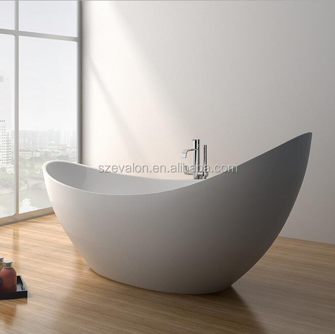 Luxury freestanding bathtub , egg shape stone bath,acrylic bathtub