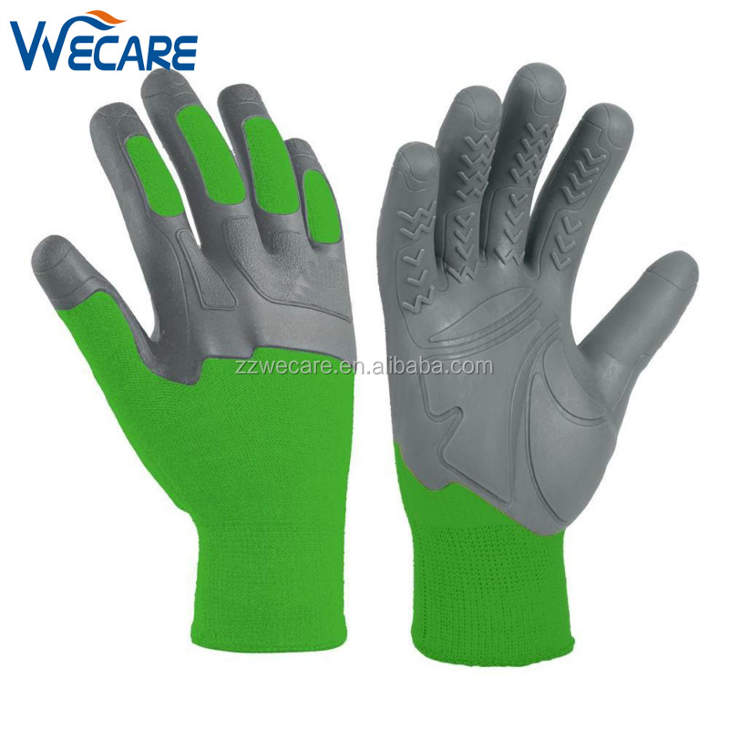 Impact Grip Pro Palm Knuckler Protective Rubber Garden Lawn Performance Work Gloves