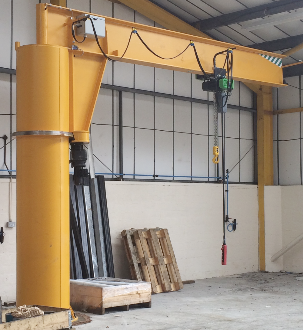 Swing Arm Hoist Mount : Heavy duty swing level jib crane electric rotate arm