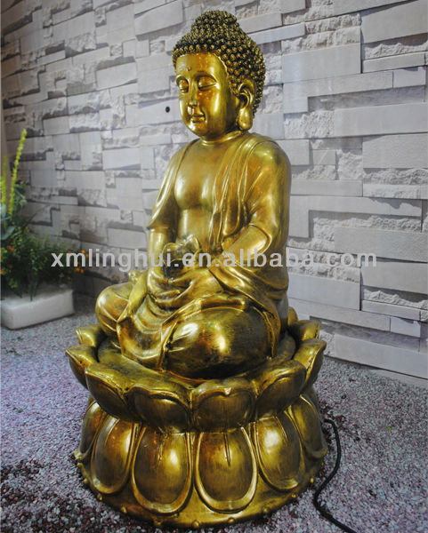 Resin Led Indoor Buddha Statue water Fountain (CE/UL/SGS)