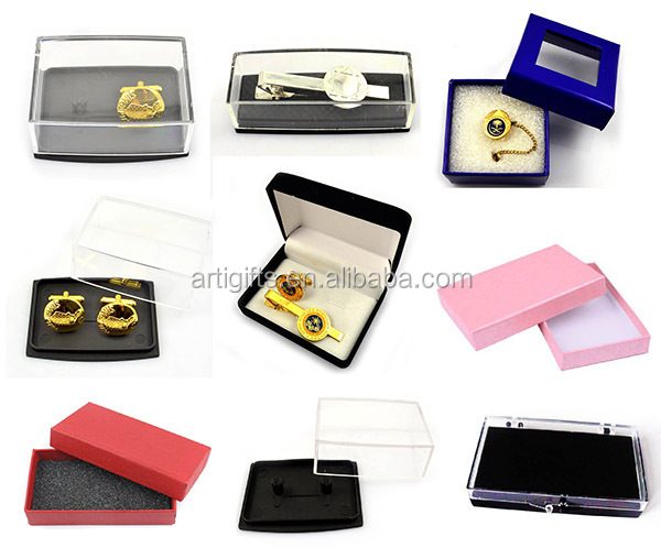 Customized design silk knot funny customised cufflinks with box packaging