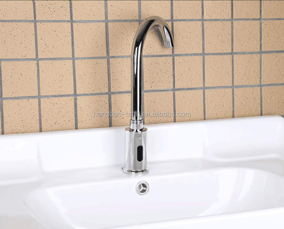 Deck mounted Electronic Infrared Sensor Hand Wash Faucet