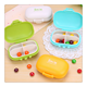 Food grade OEM macaroon shape plastic pill container box pill dispenser 4 compartment cute pill case