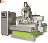 Low Price automatic tool change ATC woodworking CNC router with tangential tool and boring unit