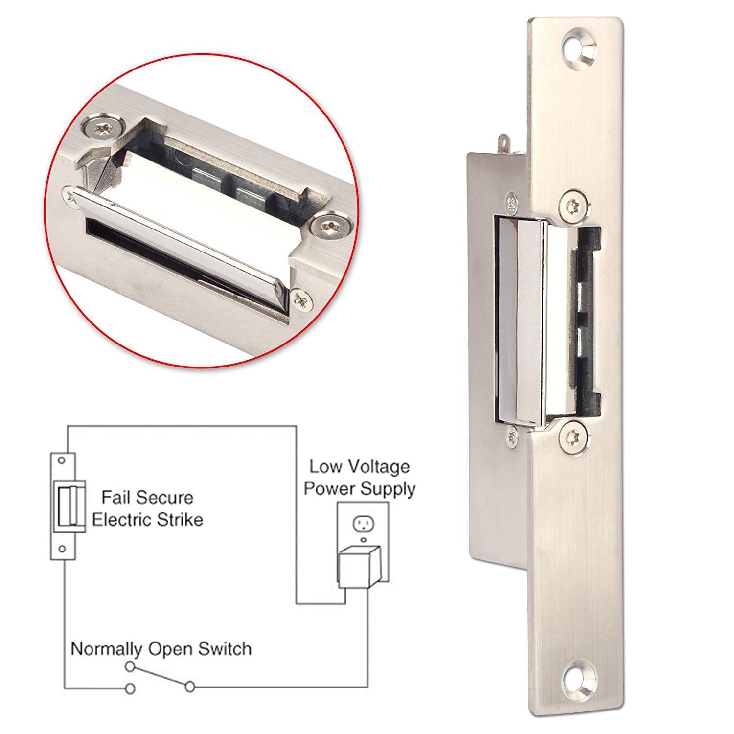 strike nidac picture gem electric p door surface mount of