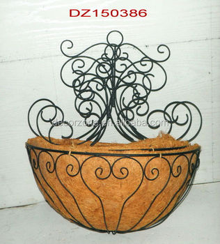 Fancy Half Round Coconut Shell Bowl Wall Planter Buy Coconut