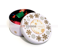 Custom Made OEM Logo Printed Metal Chocolate Candy Tin Can