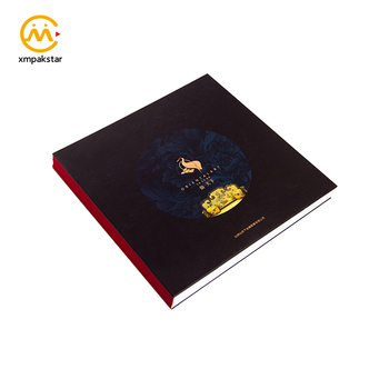 Custom stunning butterfly binding thick cardboard hardcover coffee table catalog book printing