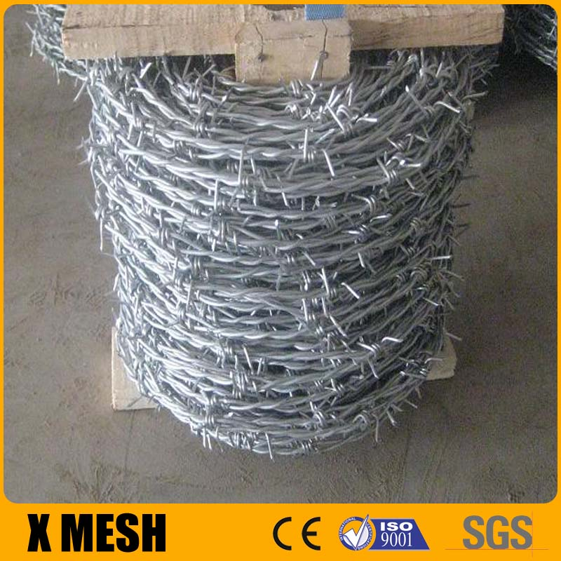 2 Strands 4 Points Galvanized Barbed Wire Coils - Buy Barbed Wire ...