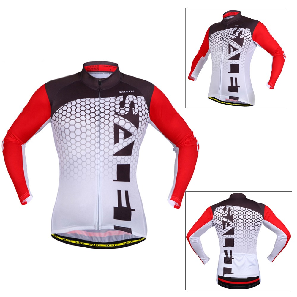 100%Polyester High Elastic Breathable Lightweight Long Sleeve Cycling Jersey 7b9efe779