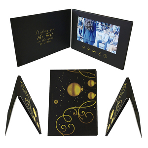 promotional customized A5 TFT LCD screen 10.1 inch video brochure Christmas invitation greeting wedding business name in card