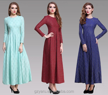 231c3afa095 Women Muslim Arabic Long Sleeve Maxi Dress Muslim Spandex - Buy Maxi ...