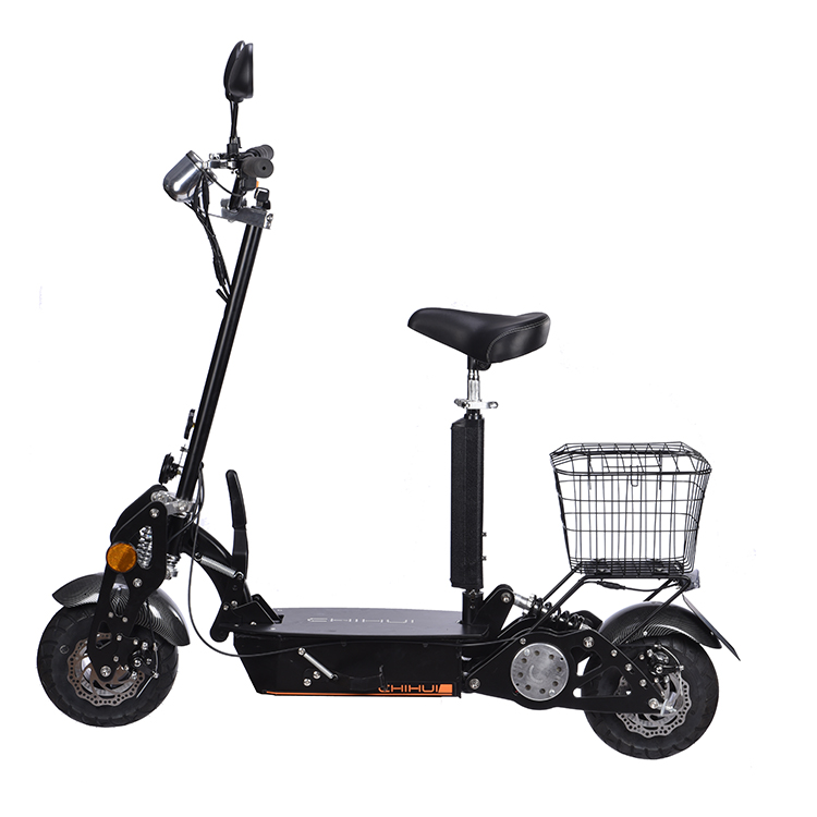 China factory 2 wheel 1000w folding eec electric scooter with basket
