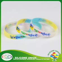 DIY eco- friendly wristbands silicone custom silicone bracelet