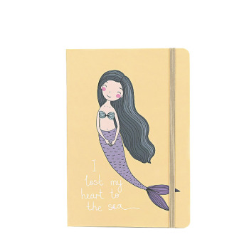 2019 new design school supplies a5  hardcover custom logo notebook with mermaid