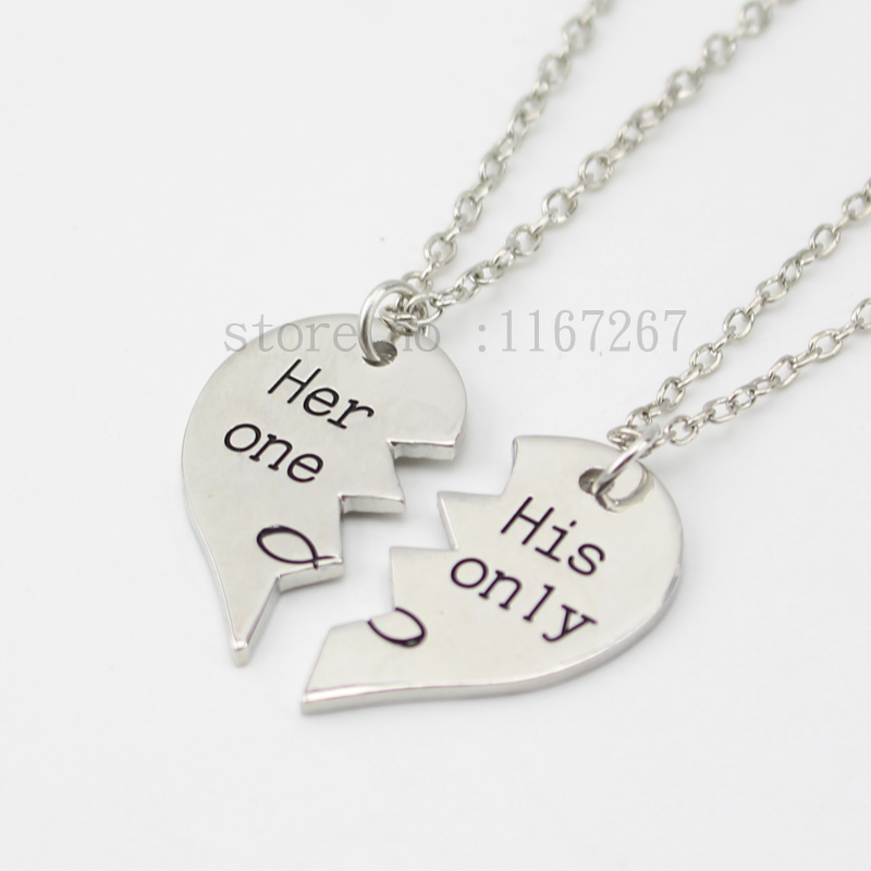 heart necklace for couples - photo #20
